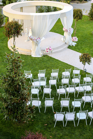 Beautiful outside arrangement for wedding