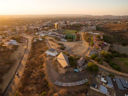 namibia: Namibia Windhoek aerial photo Stock Photo