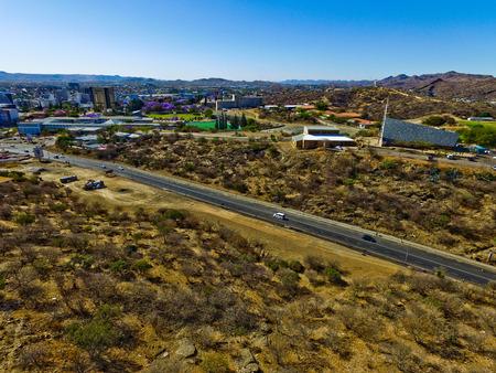 Windhoek drone view Namibia aerial photo
