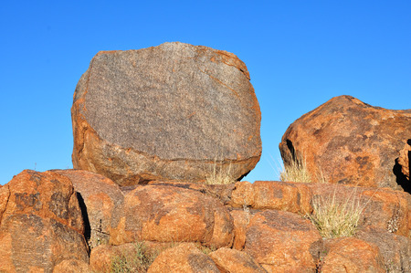 formations: Red rock formations in Namib desert