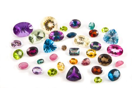 Group of faceted gemstones Stock Photo - 3042350
