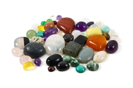 A group of mixed cabochons Stock Photo