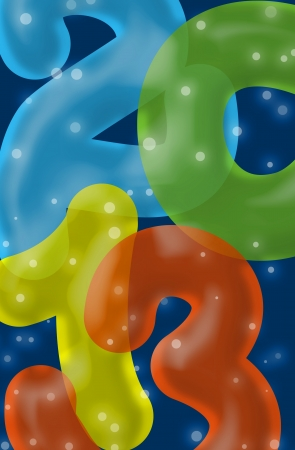 Colorful 2013 New Year Greeting Card with the numbers looking like ballons Stock Photo - 15796252