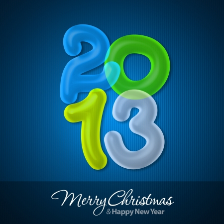 Merry Christmas and Happy New Year 2013 Greeting Card Stock Photo - 16241111