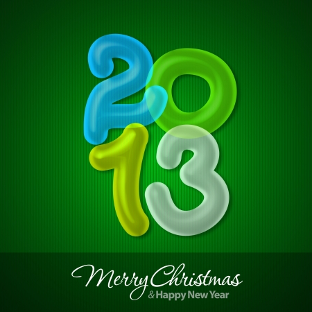 Merry Christmas and Happy New Year 2013 Greeting Cards Stock Photo - 16241104