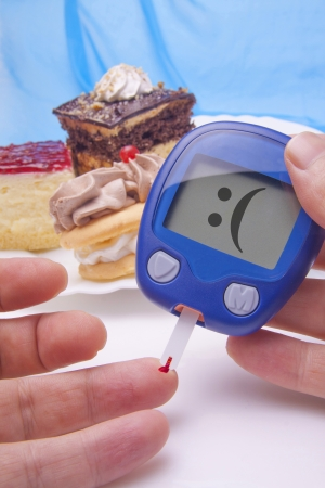 diabetes: Blood Sugar Test  Metaphor Photography With sweets