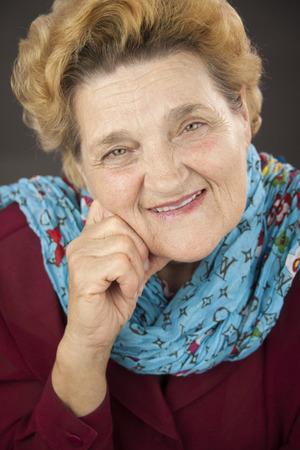 greeneyes: Portrait of senior woman. Casual