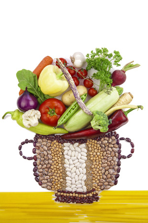 Vegetarian pot. New healthy food concept photo