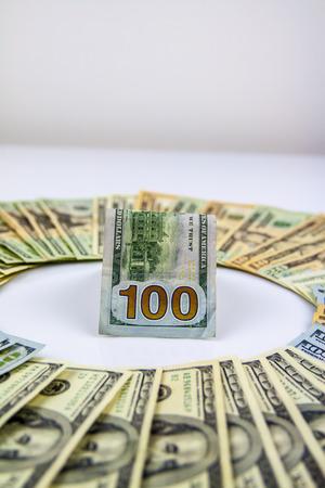 American dollars closeup. Money concept photo