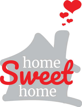 Home Sweet Home, vector, wording design, lettering, T-shirt application, book illustration, Christian poster design isolated on white background, wall decals, wall artwork, graphic design