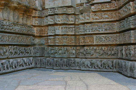 karnataka: Wall of the Keshava temple at Somnathpur in Karnataka.