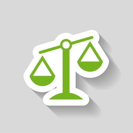 justice scales: Pictograma de las escalas de la justicia
