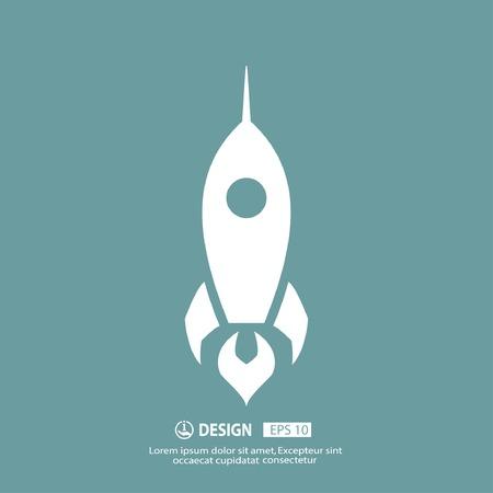 Rocket icon Vektorové ilustrace