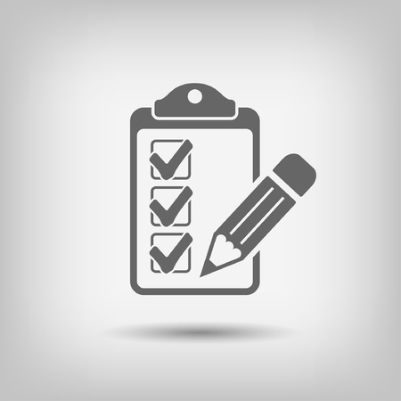 Pictograph of checklist Illustration