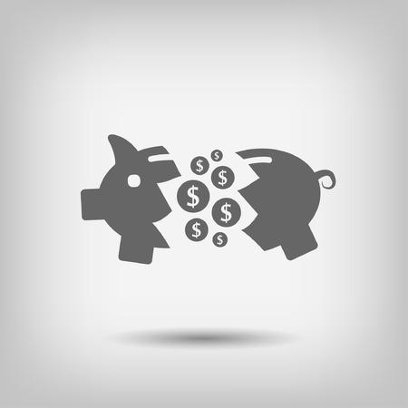 moneybox: Pictograma de la hucha Vectores