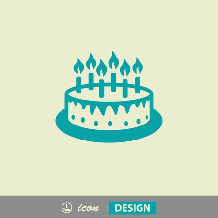 icon 3d: Pictograph of cake Illustration