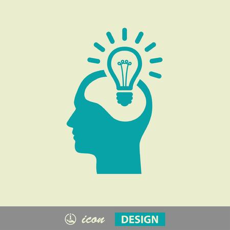 inteligencia: Pictograma del bulbo concepto Vectores