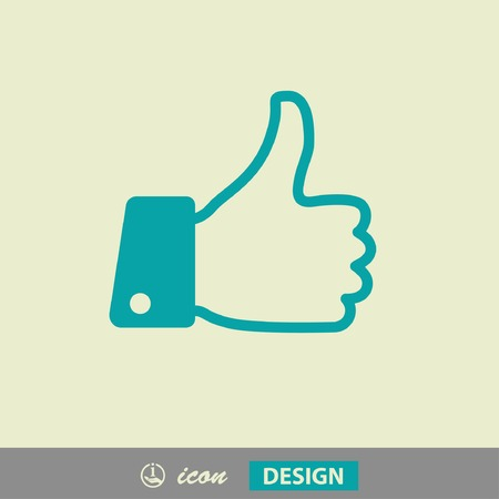 thumbs up: Pictograph of like