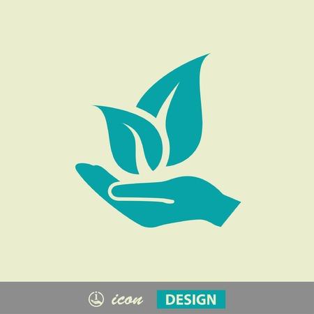 Beeldschriftteken van eco Stock Illustratie