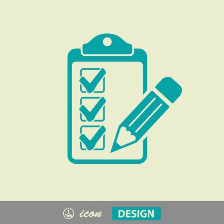 Pictograph of checklist Stock Illustratie