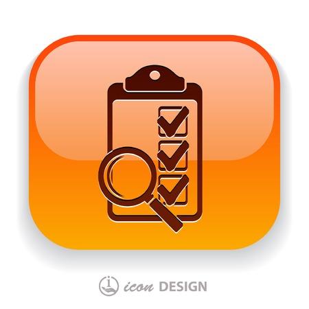 Pictograph of checklist Vector