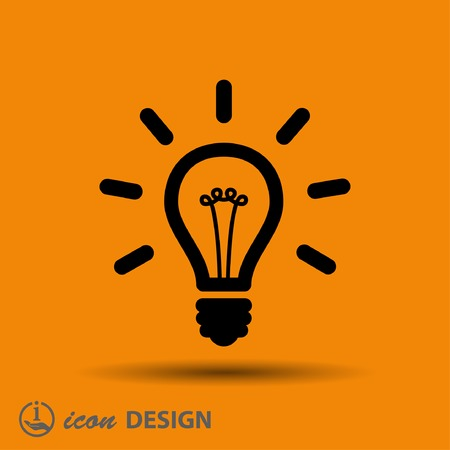 idea light bulb: Pictograph of light bulb