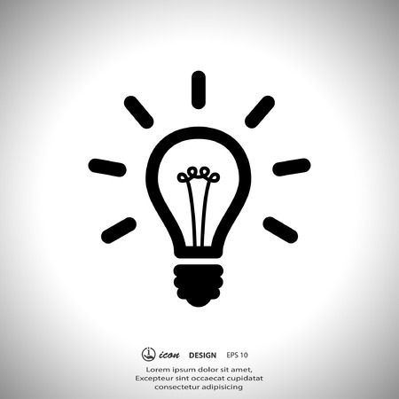 pictograph: Pictograph of light bulb