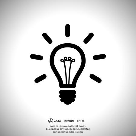 Piktogramm der Glühbirne Standard-Bild - 40993862