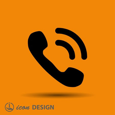 cellphone icon: Pictograph of phone