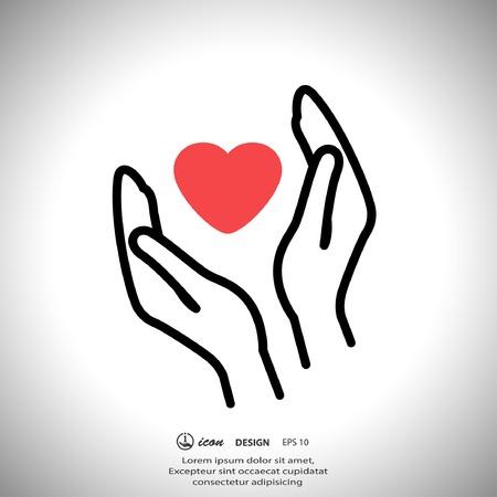 손에 심장의 상형 문자