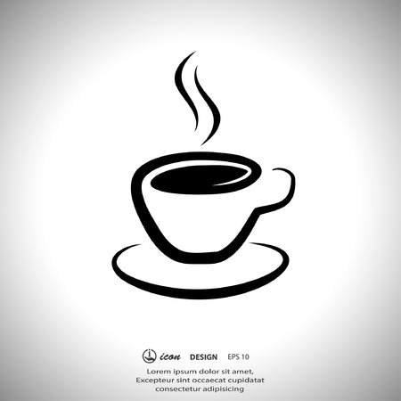 coffee cup: Pictograph of cup Illustration