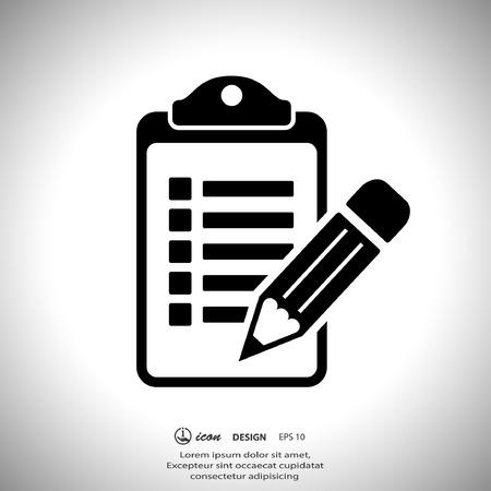 the clipboard: Pictograma de la lista de verificación Vectores