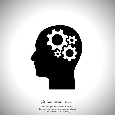cabeza: Pictograma de artes en la cabeza