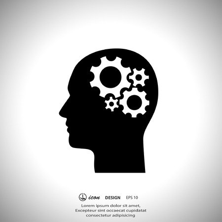 Pictograph of gear in head