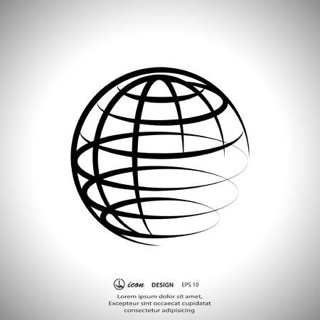 wereldbol: Beeldschriftteken van globe