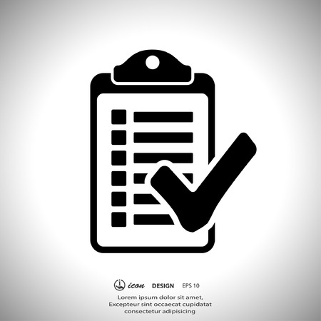 checklist: Pictograph of checklist Illustration