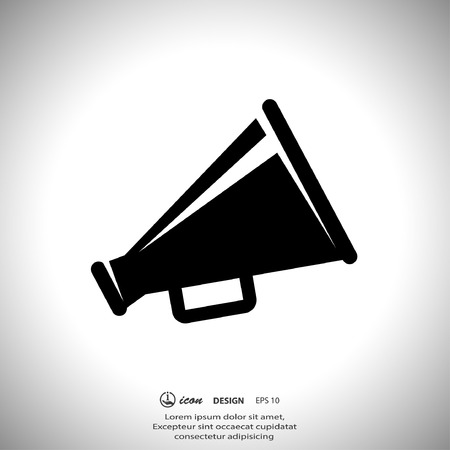 Pictograph of megaphone Stock Illustratie
