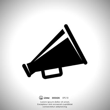 megaphone icon: Pictograph of megaphone Illustration