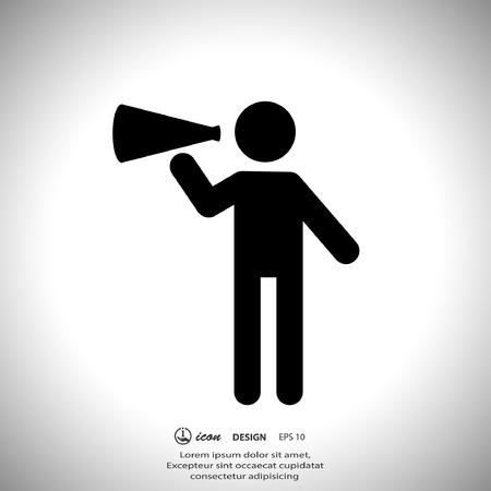 megaphone: Pictograph of advertising Illustration