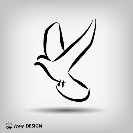 pictograph: Pittogramma di uccello Vettoriali