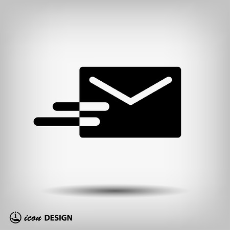 email address: Pictograph of mail Illustration