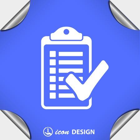 Pictograph of checklist Vektorové ilustrace