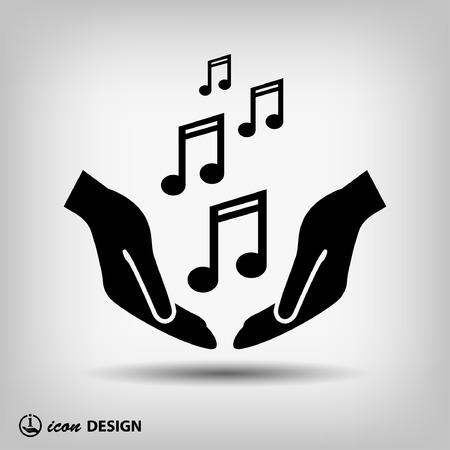 notas musicales: Pictograma de la m�sica