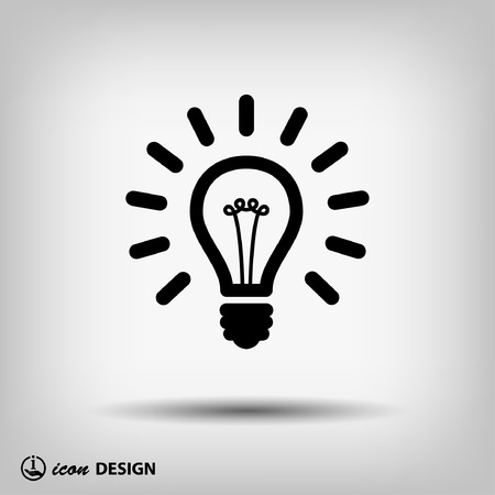 solutions icon: Pictograph of light bulb