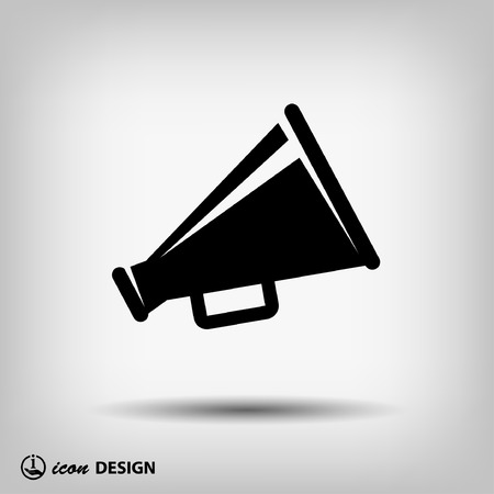 announcement icon: Pictograph of megaphone Illustration