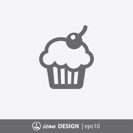 chocolate cupcakes: Pictograph of cake Illustration