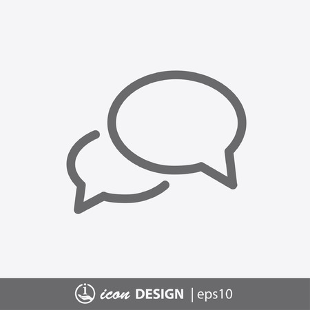message icon: Pictograph of message or chat