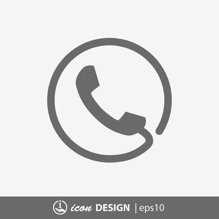 telephone icon: Pictograph of phone