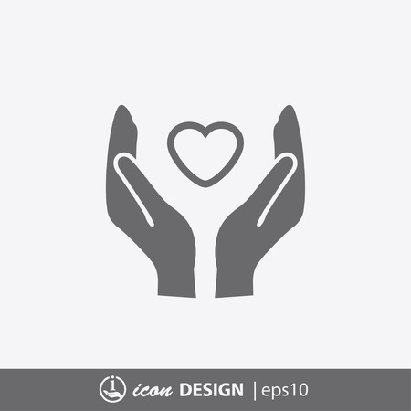 relationship: Pictograph of heart in hand