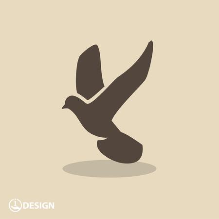 bird illustration: Pictograph of bird